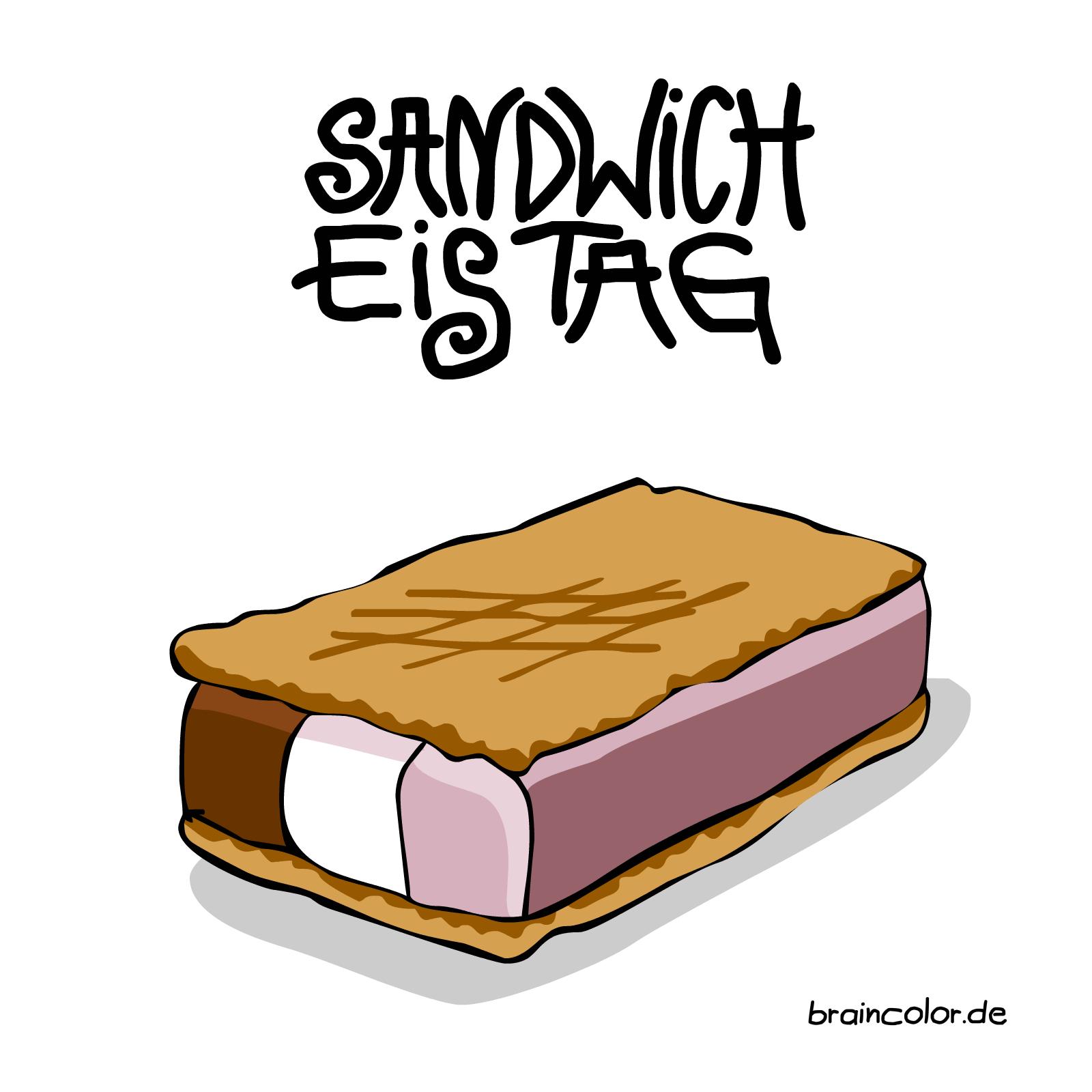 Sandwich-Eis-Tag