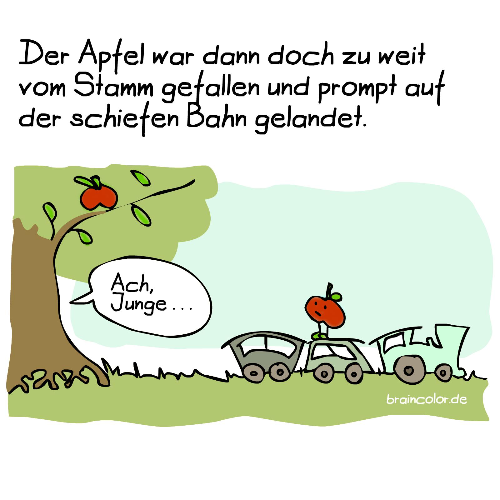 Der Apfel fiel zu weit vom Stamm