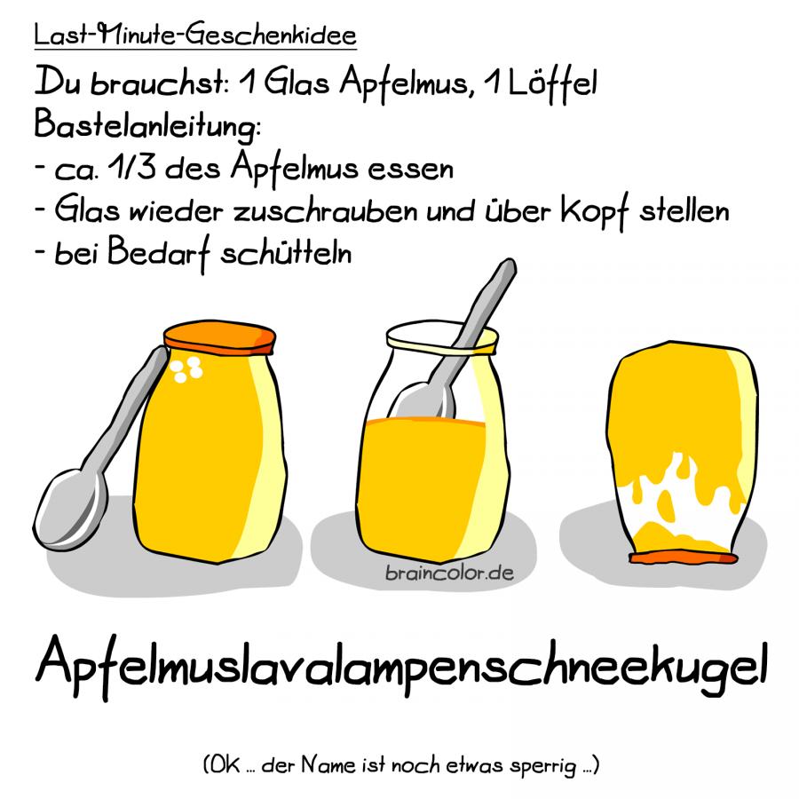Apfelmus-Lavalampe