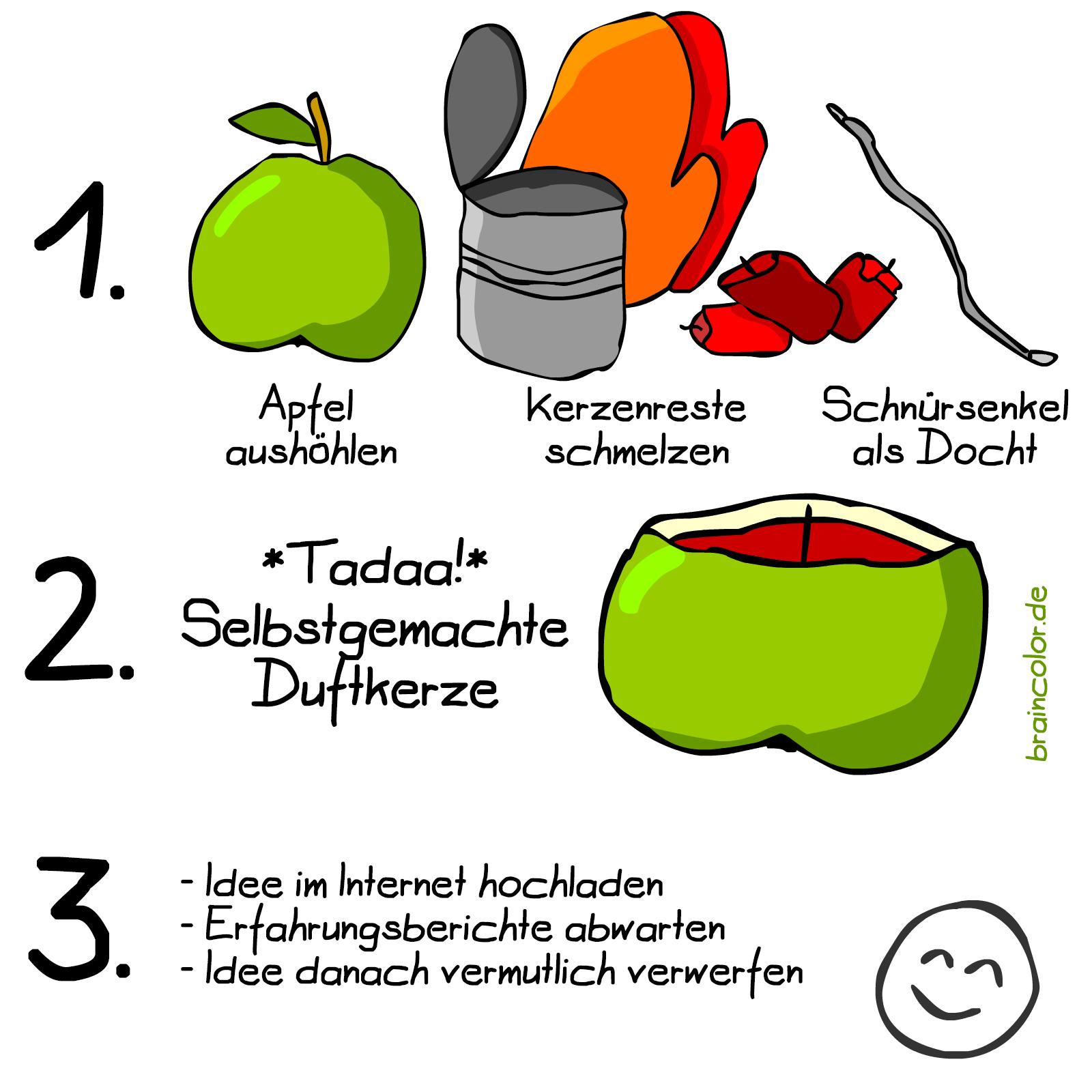 Apfelkerze