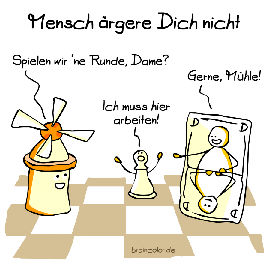 Mühle Dame