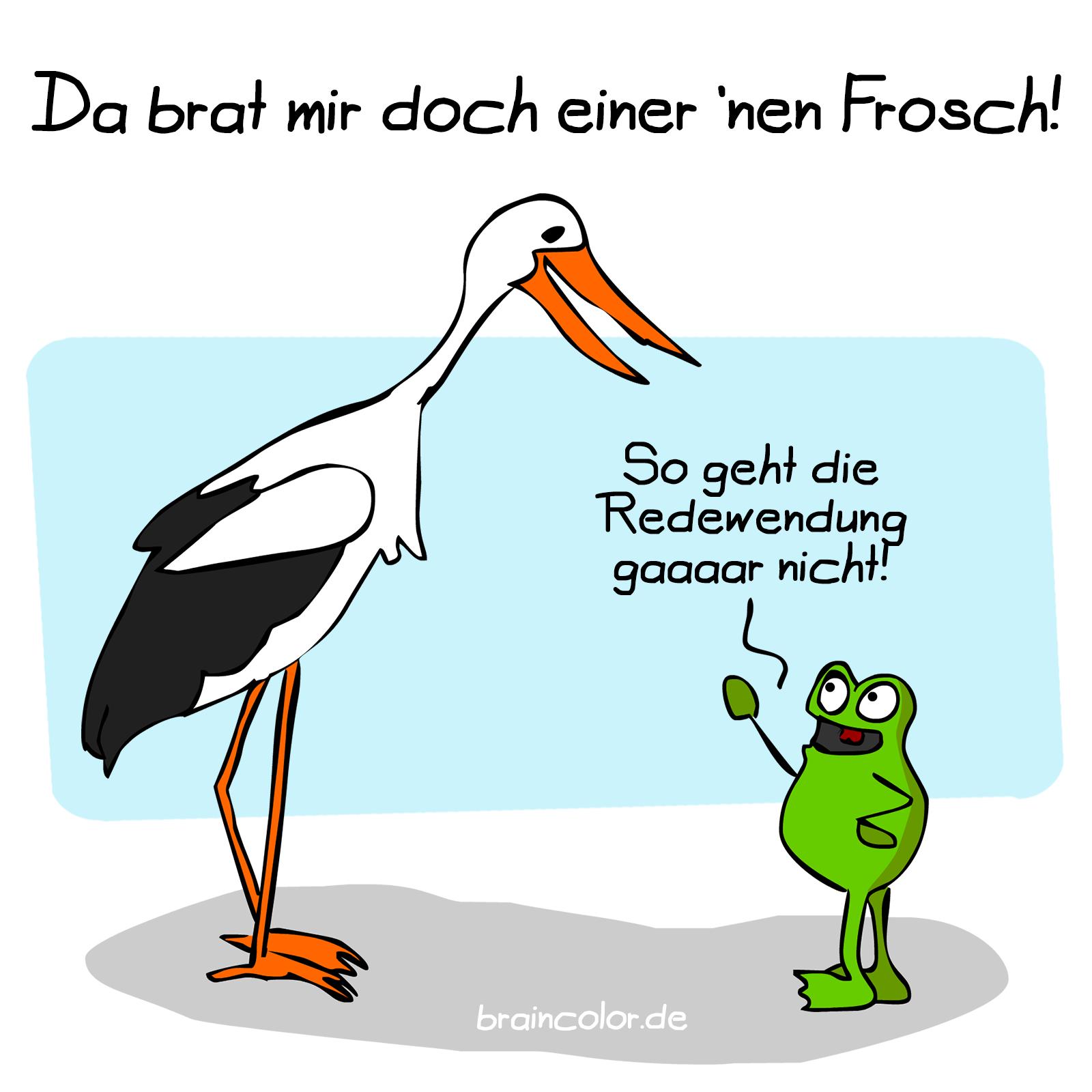Frosch und Storch