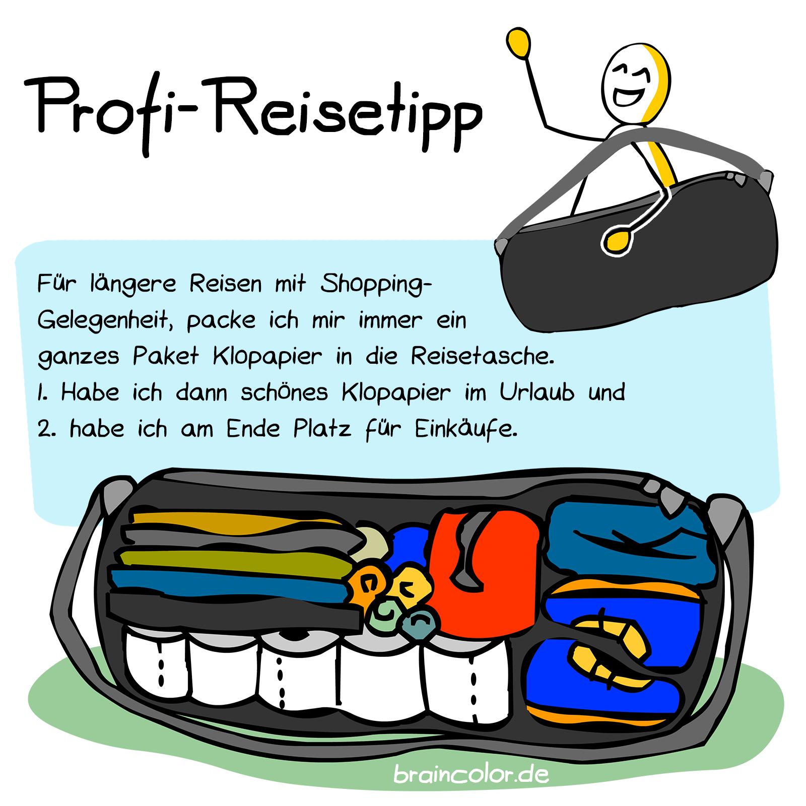 Reisetasche Klopapier