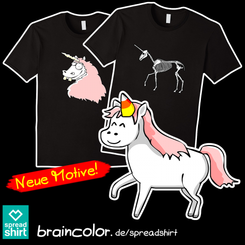 Einhorn T-Shirt Spreadshirt